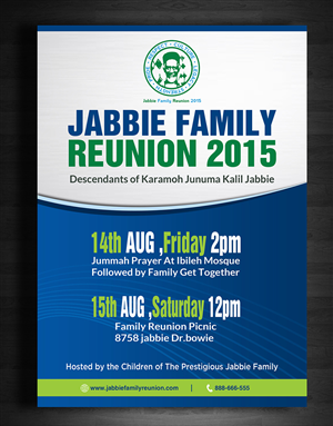 playful personable events flyer design for jabbie family by ltd 88