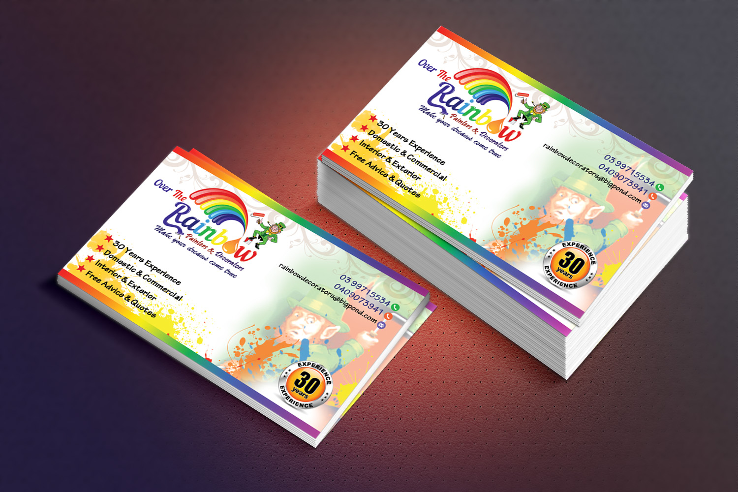 65 elegant business card designs painting and decorating business business card design by sandaruwan for this project design 6434031 colourmoves