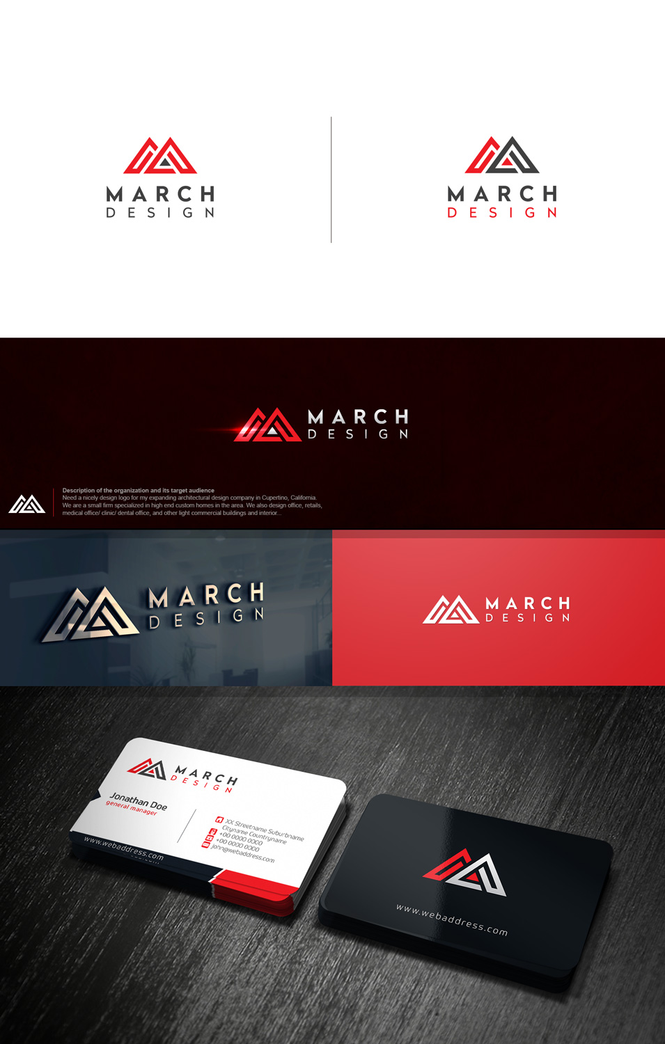 Professional upmarket logo design for mike ma by solidus for Interior design companies in usa