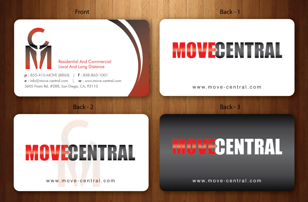 Moving Company Business Card Design for a Company by Sbss | Design ...