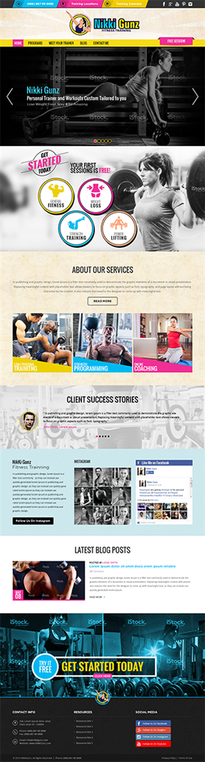 Web Design by RupalTechno - Bold Website Design for Fitness Trainer - No Co ...
