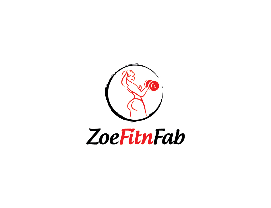 modern elegant personal trainer logo design for