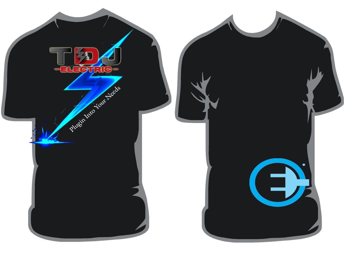 Masculine, Bold, Electrician T-shirt Design for a Company by ...