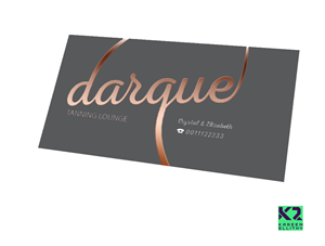 business card design by k2 for darque tanning lounge design 6472029 - Rose Gold Business Cards