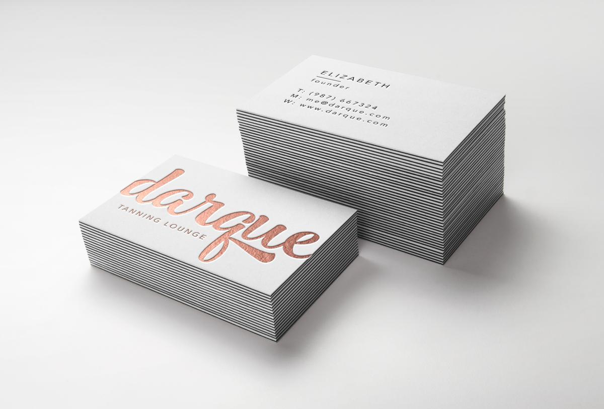 Modern, Upmarket, Business Business Card Design for Darque Tanning ...