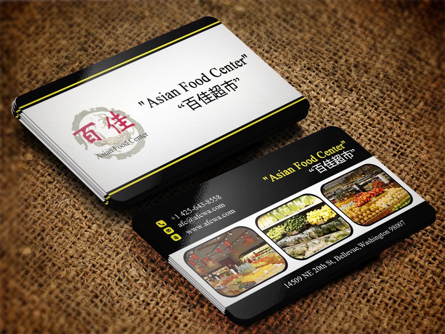 Modern professional grocery store business card design for asian business card design by creation lanka for asian food center design 6455260 colourmoves