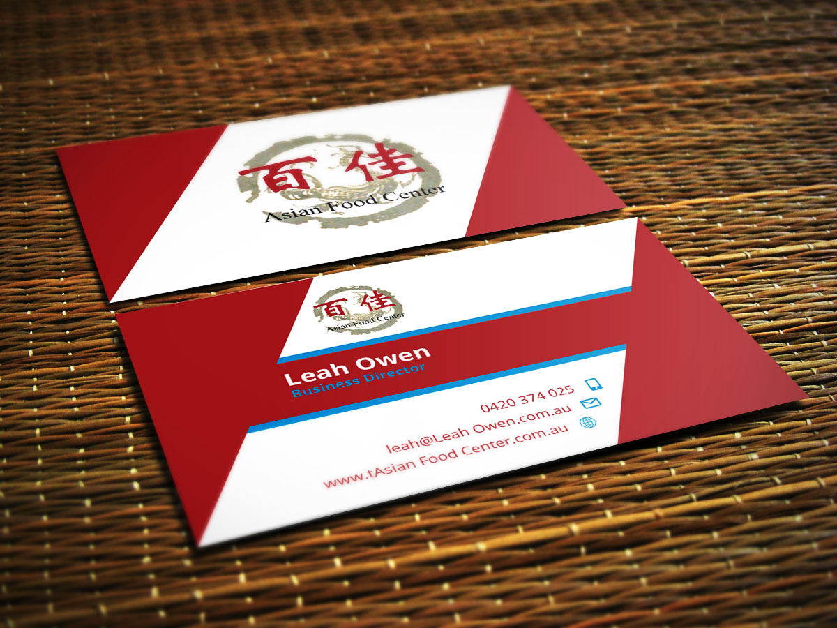 Modern, Professional, Grocery Store Business Card Design for Asian ...