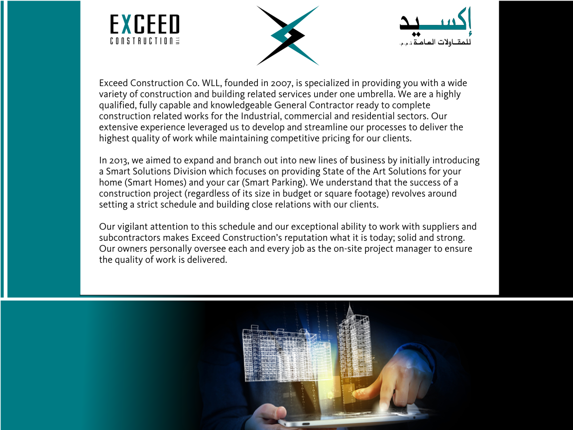 Elegant, Modern, Construction Graphic Design for Exceed