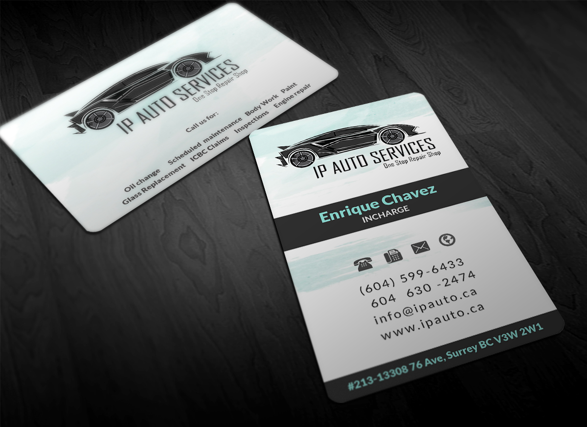 Professional bold car repair business card design for a company by business card design by designing birds for this project design 6449657 colourmoves Image collections