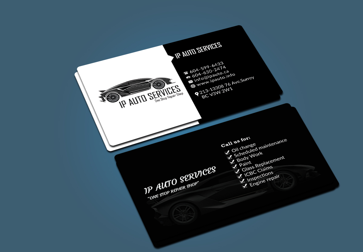Professional bold car repair business card design for a company by business card design by afhun for this project design 6479290 colourmoves