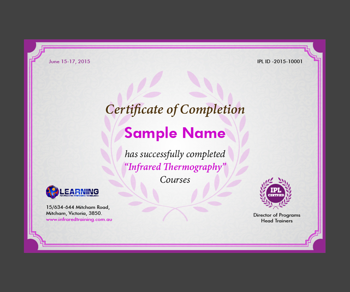 Serious modern graphic design for industrial precision graphic design by speaking colour for training certificate of completion design 6470105 1betcityfo Images