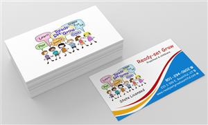 Visitenkarten Designs Kinderbetreuung 5 Visitenkarten Zu