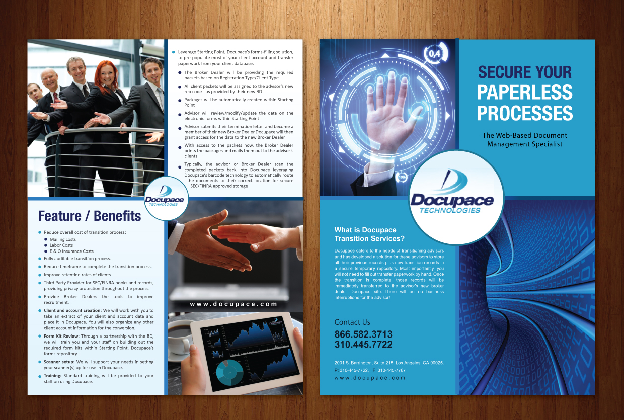 Professional, Modern Brochure Design for Docupace by Smart ...