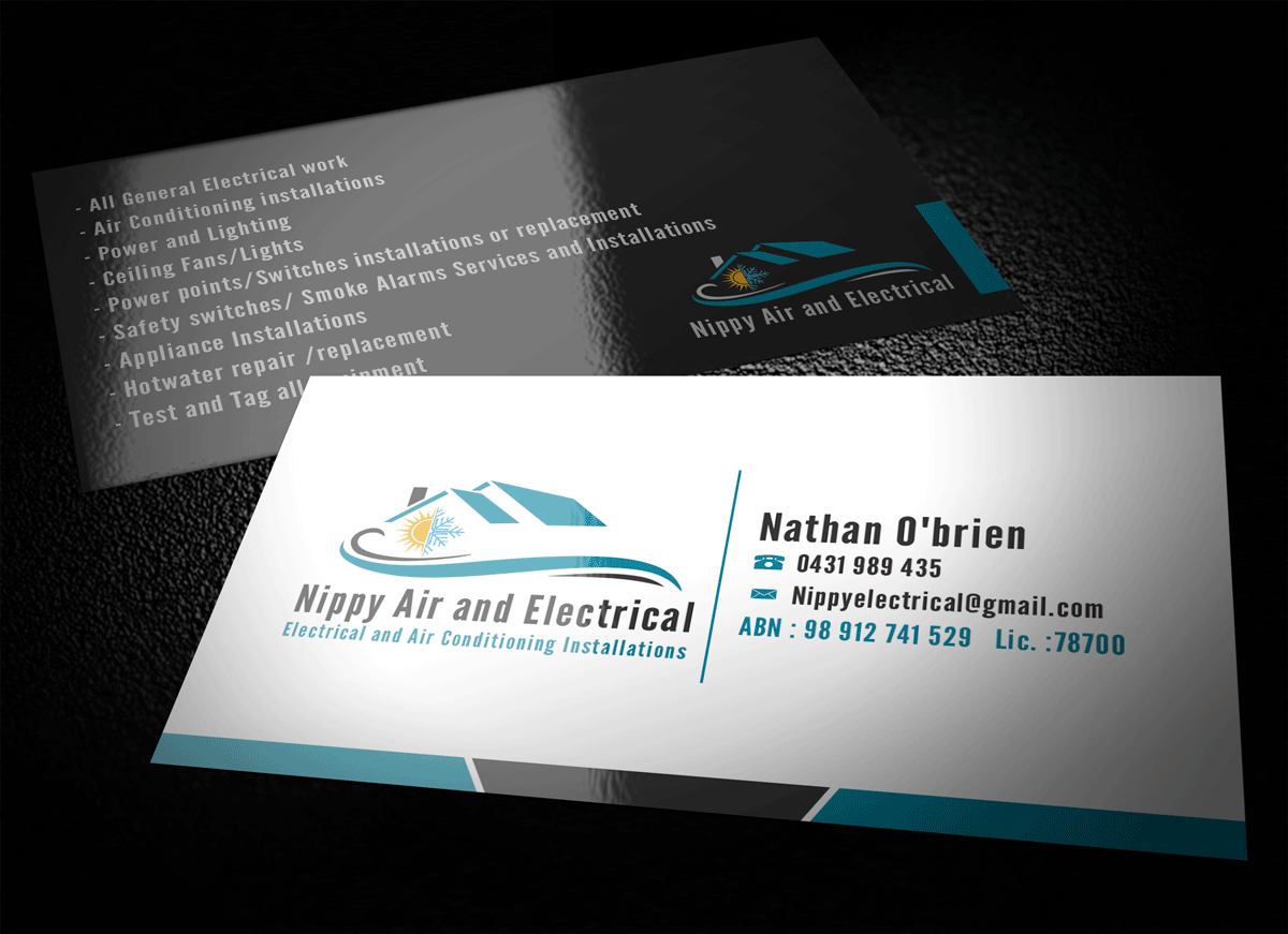 Serious, Modern Business Card Design for Nathan O\'\'Brien by Riz ...