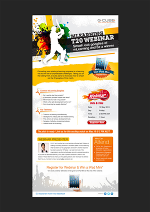 Flyer Design by aadigpt09 - E-mailer for Invitation to a Webinar - based on...