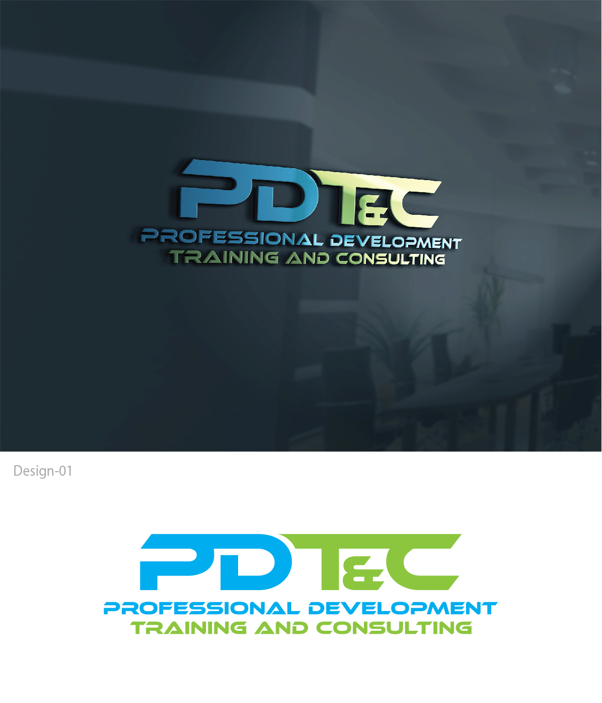 Professional bold training logo design for pdt c or for Design and development consultants