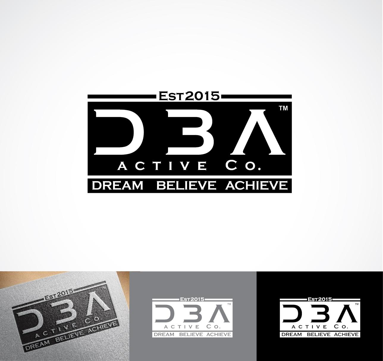 elegant professional clothing logo design for dba active co est2015 dream believe achieve by. Black Bedroom Furniture Sets. Home Design Ideas