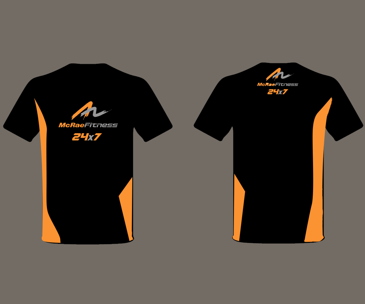 Bold playful fitness t shirt design for tj mcrae Design t shirt australia