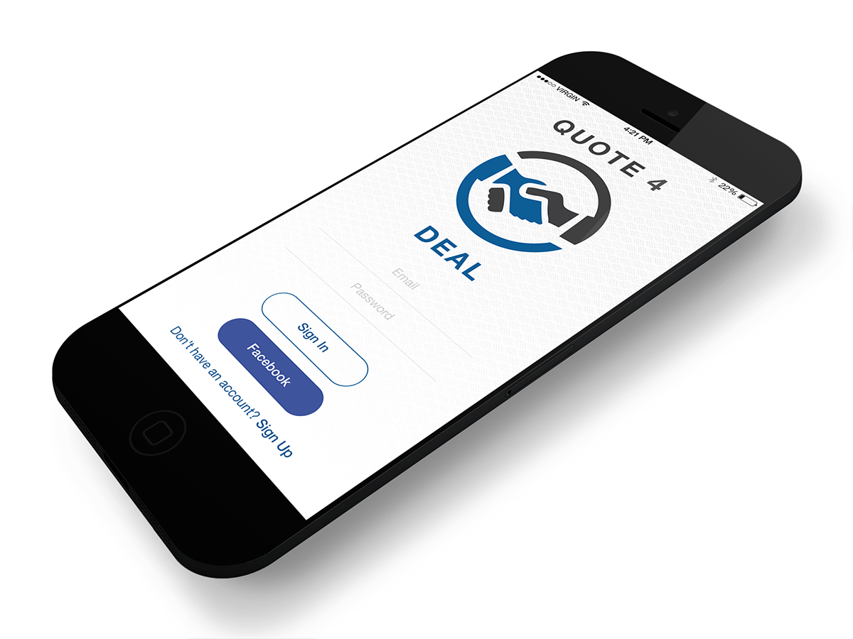 Professional bold business directory ios app design for for Designer directory