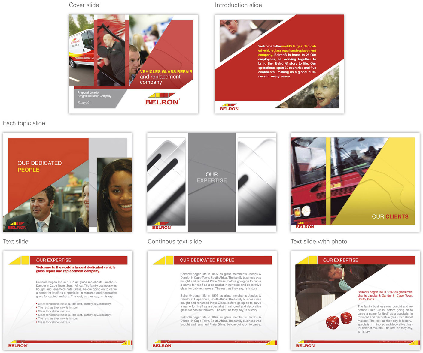 PowerPoint Design (Design #364427) submitted to Belron corporate ...