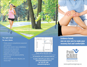 Flyer Design by Ramaling Belkote - physio rehab flyer for Pain Care please