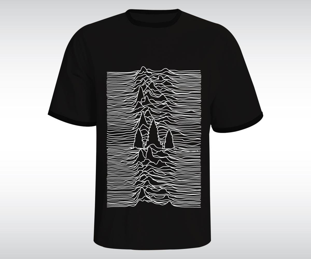 T shirt design job - T Shirt Design By Saiartist For Angkor Wat Pulsar Waves T Shirt Design Contest