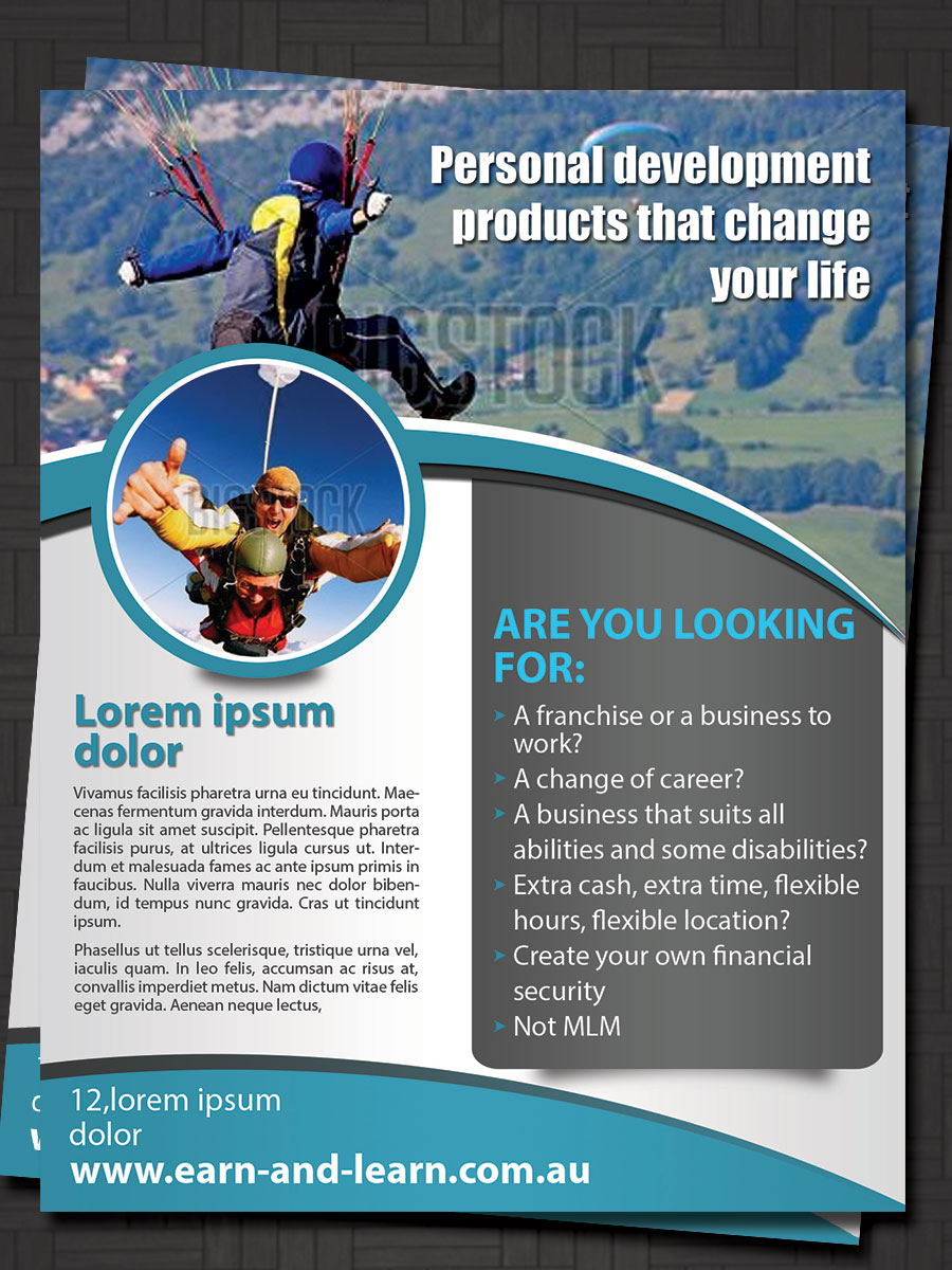 bold serious business flyer design for a company by esolz