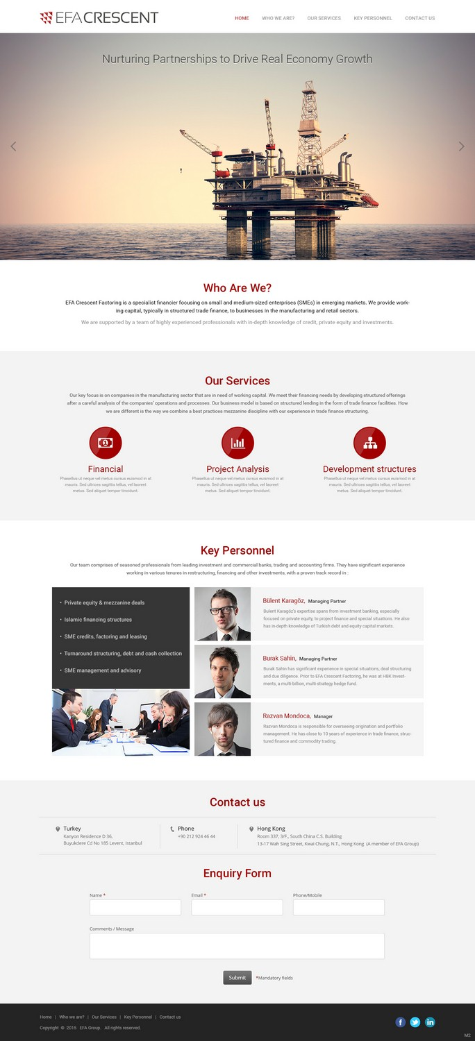 Serious, Modern, Financial Service Webs Design for a Company