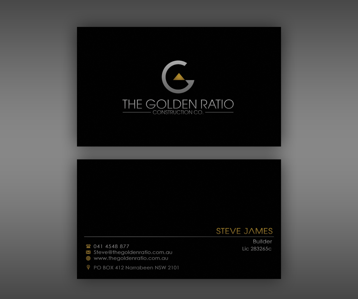 Modern professional residential construction business card design business card design by ethien for this project design 6576022 colourmoves Images
