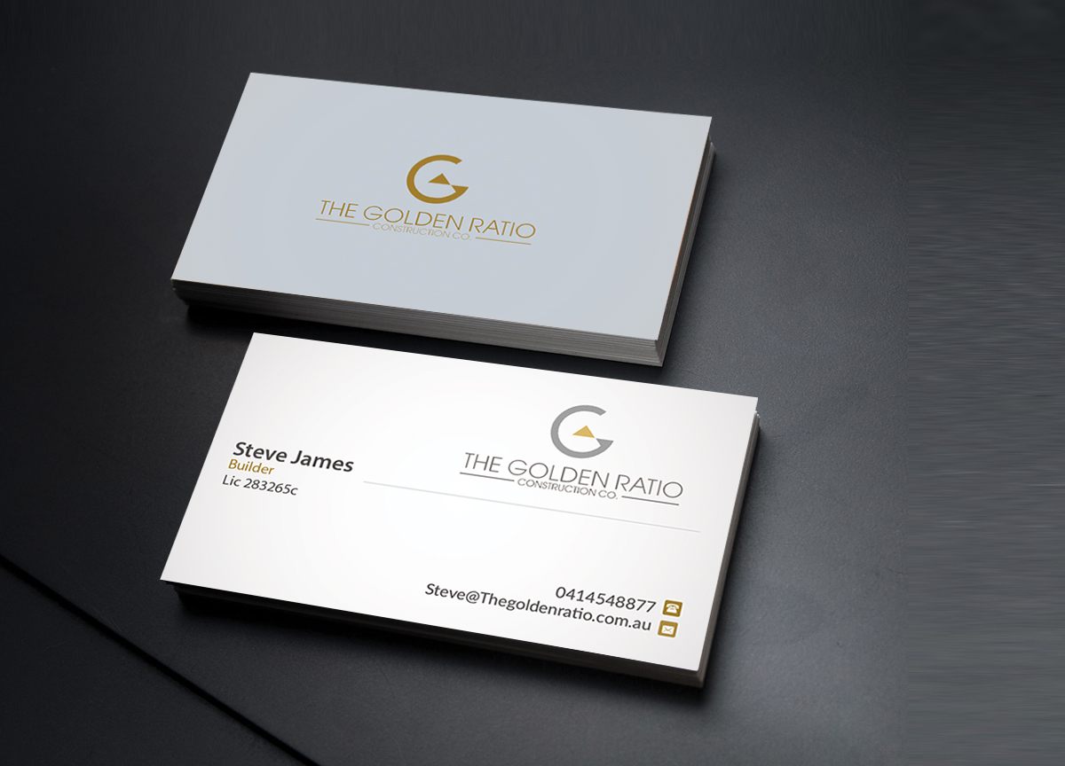 modern professional residential construction business card design