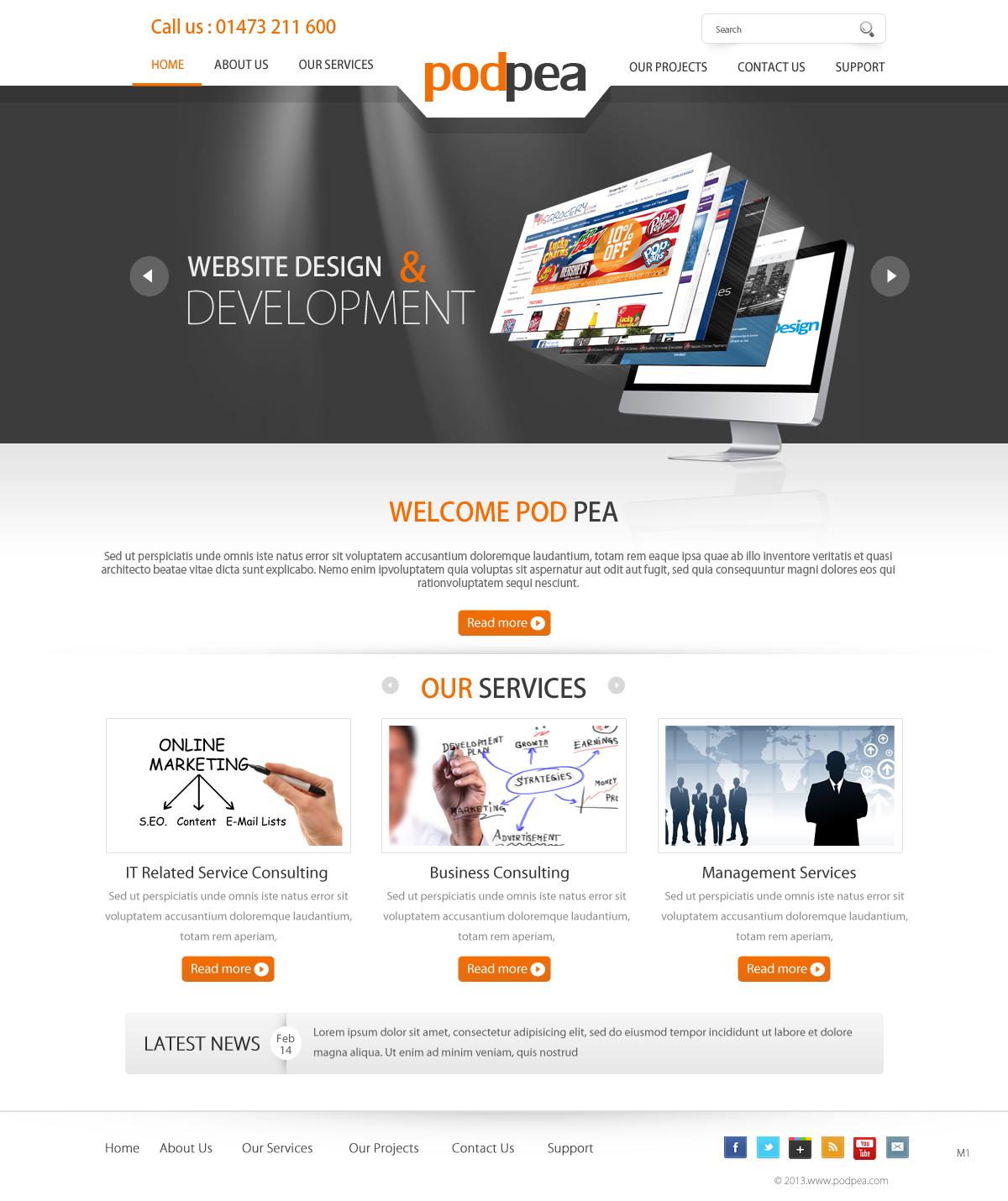 Modern Upmarket Software Web Design For A Company By Pb Design 1707159