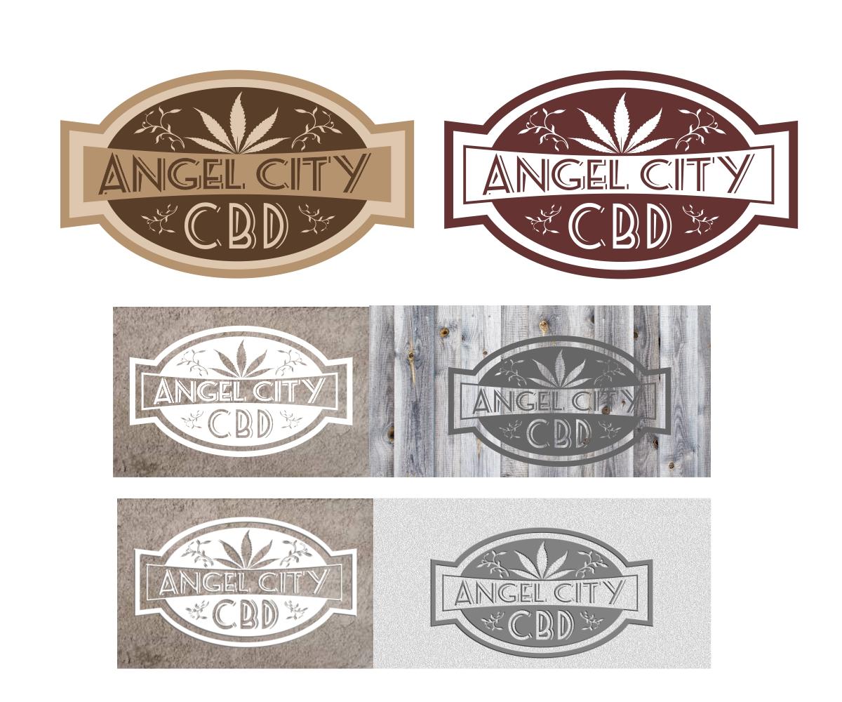 Conservative Elegant Logo Design For Angel City CBD By Mstudios