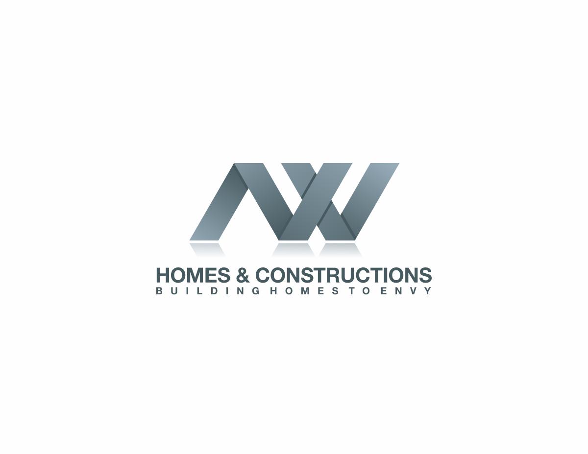 Business Logo Design for N.V homes & constructions. Tag line ...