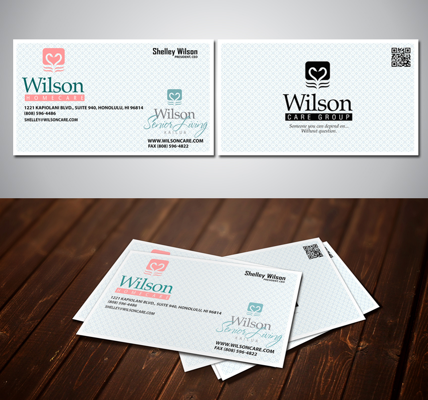Professional, Upmarket Business Card Design for Wilson Care Group ...