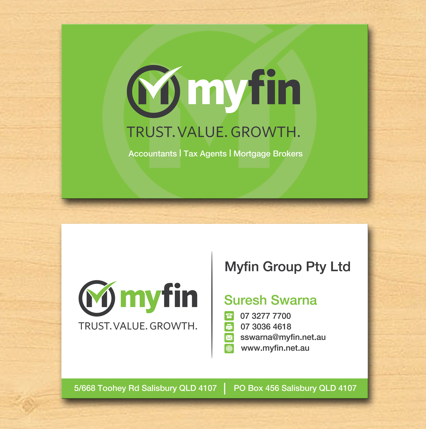 Professional, Elegant, Business Business Card Design for Myfin Group ...