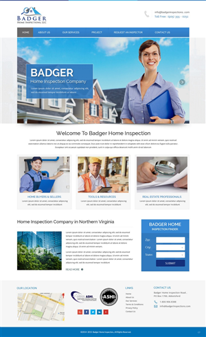 Web Design By Pb For Badger Home Inspections, LLC. | Design: #6551930