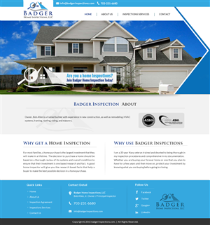 Traditional Bold Home Inspection Web Designs For A Home