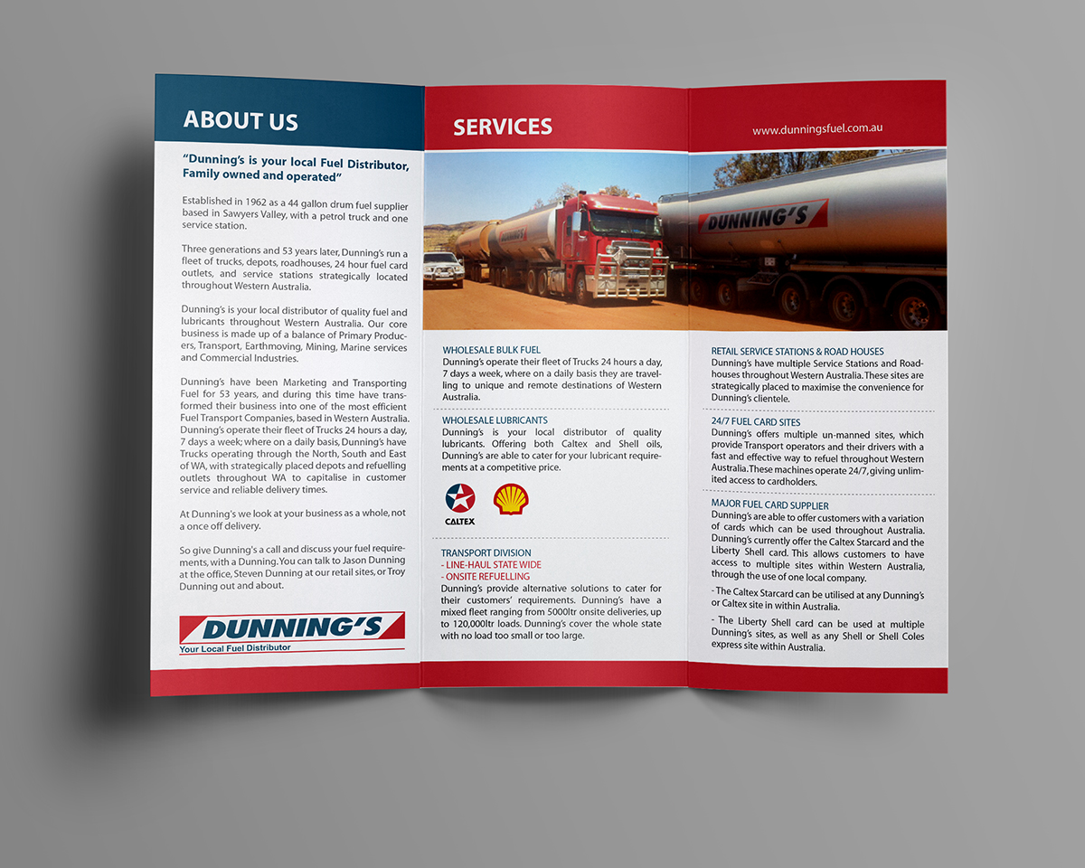 Serious, Modern, Business Flyer Design for Dunnings Fuel by Phobos ...
