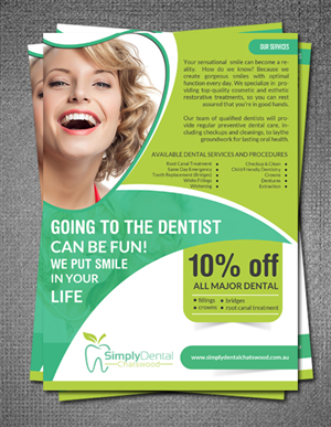 33 Bold Playful Dental Flyer Designs for a Dental business in ...