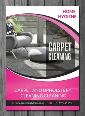 Modern, Bold Flyer Design for Home Hygiene by uk | Design #6547687