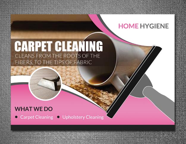 Modern, Bold Flyer Design for Home Hygiene by hih7 | Design #6549716
