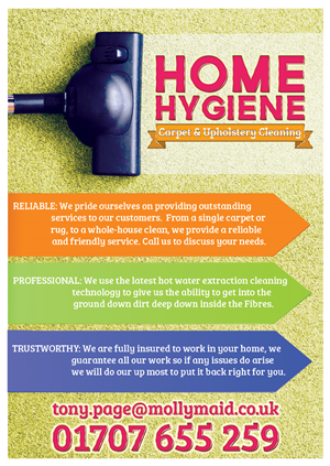 Modern, Bold, Cleaning Service Flyer Design for Home Hygiene by uk ...