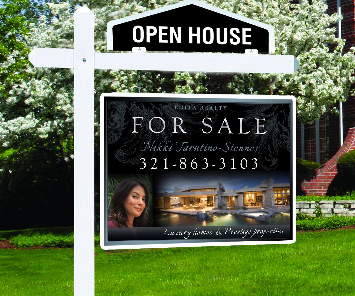 Modern upmarket real estate agent signage design for for Modern homes estate agents