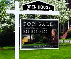 60 modern upmarket real estate agent signage designs for a