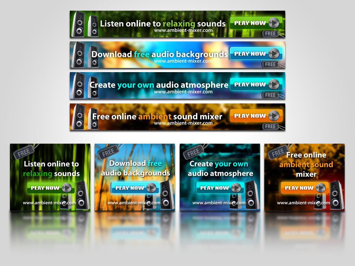 Ambient Mixer banner ad design job. banner ad brief for qaamgo media ug