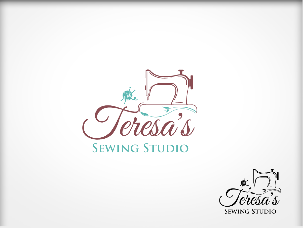 Serious Masculine Logo Design For Teresas Sewing