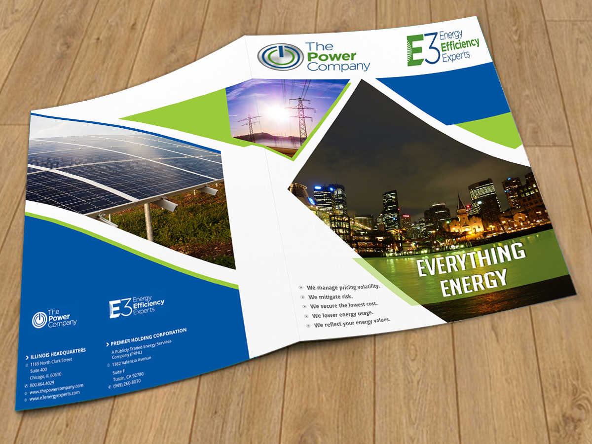 elegant playful it company brochure design for the power company