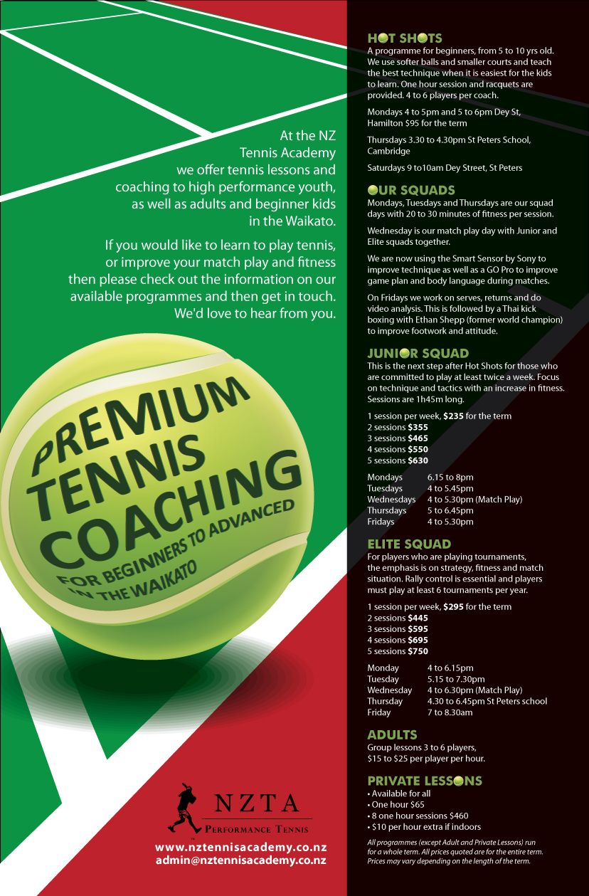 Poster design nz - Poster Design By Eleven For A4 Poster Design For Nz Tennis Academy Design 6575154