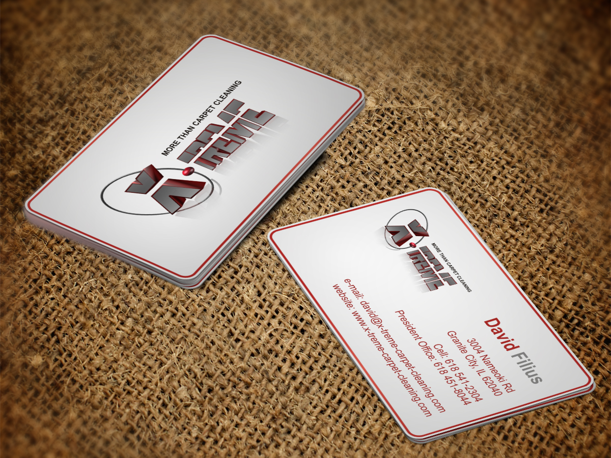 Business card design for david filius by sumitt design 6566612 business card design by sumitt for carpet cleaning business sesighn design 6566612 baanklon Gallery