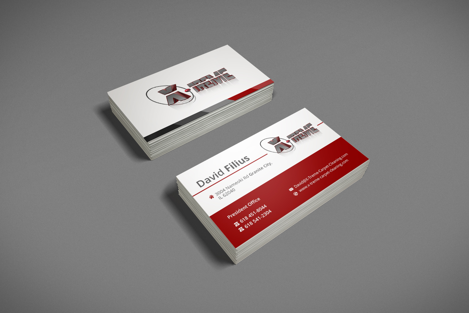 Business card design for david filius by luchyan design 6566642 business card design by luchyan for carpet cleaning business sesighn design 6566642 baanklon Gallery